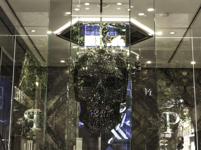 PHILIPP PLEIN showroom Milan- Entrance 2